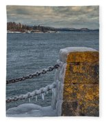 Cold Day On Superior Fleece Blanket