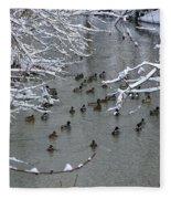 Cold Ducks Fleece Blanket