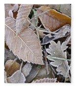 Cold Leaves Fleece Blanket