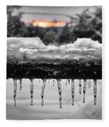 Cold Morning Light Fleece Blanket