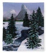 Cold Mountain Brook Fleece Blanket