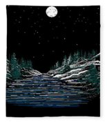 Cold Mountain Winter Fleece Blanket
