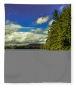Cold Spring Day In Vermont Fleece Blanket