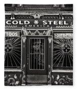 Cold Steel Bw Fleece Blanket