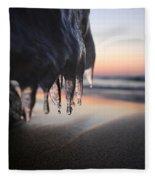 Cold Sunset Fleece Blanket