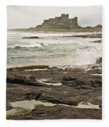 Cold Waves Of Northumberland Fleece Blanket