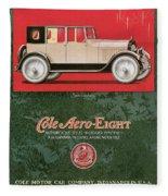 Cole Aero Eight Vintage Poster Fleece Blanket