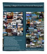 Collage Photography Services Fleece Blanket