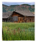 Collapsed Log House In Utah Fleece Blanket