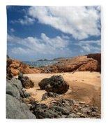 Collapsed Natural Bridge Aruba Fleece Blanket