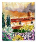 Colle D Val D Elsa In Italy 03 Fleece Blanket