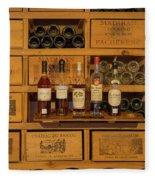 Collection Of Wines And Armagnac Fleece Blanket