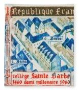 College Of St. Barbe 1460-1960 Half A Millennium Fleece Blanket