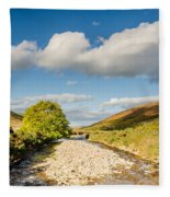 College Valley And Burn Fleece Blanket