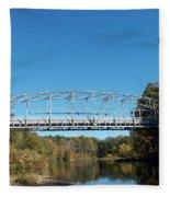 Collinsville Steel Bridge 1 Fleece Blanket