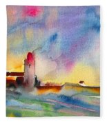Collioure Impression 01 Fleece Blanket