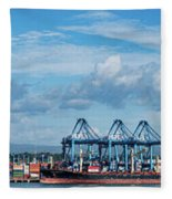 Colon Container Terminal, Panama Canal Fleece Blanket