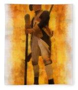 Colonial Soldier Photo Art  Fleece Blanket