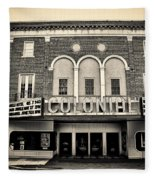 Colonial Theater In Phoenixville In Sepia Fleece Blanket