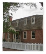 Colonial Williamsburg Scene Fleece Blanket