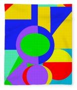 Color And Shape Series #1 Fleece Blanket