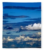 Color Burned Clouds Fleece Blanket