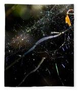 Color Dots Spider Net Fleece Blanket