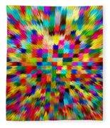 Color Explosion I Fleece Blanket