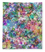 Color Filled Abstract Fleece Blanket