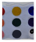 Color From The Series The Elements And Principles Of Art Fleece Blanket