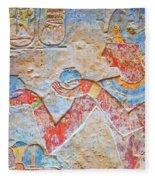 Color Hieroglyph Fleece Blanket