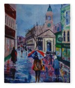 Color In The Rain Fleece Blanket