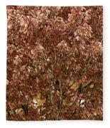 Color In The Tree 04 Fleece Blanket