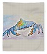 Color Me Blue . . . And Speckled Too Fleece Blanket