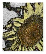 Color Me Sunflower Fleece Blanket