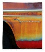 Color Of Rust Fleece Blanket