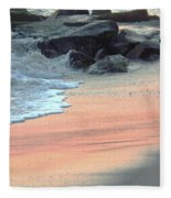 Color Of Sand Cape May Nj Fleece Blanket