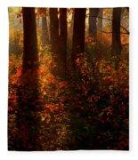 Color On The Forest Floor Fleece Blanket