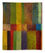 Color Panel Abstract Ll Fleece Blanket