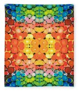 Color Revival - Abstract Art By Sharon Cummings Fleece Blanket