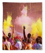 Color Run Fleece Blanket