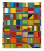 Color Study Collage 65 Fleece Blanket