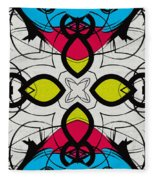 Color Symmetry 3 Fleece Blanket