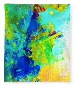 Color Wash Abstract Fleece Blanket