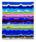 Color Waves No. 4 Fleece Blanket