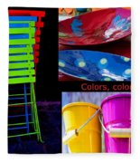 Color Your Life 1 Fleece Blanket