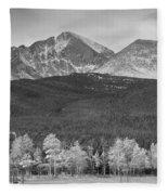 Colorado America's Playground In Black And White Fleece Blanket