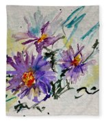 Colorado Asters Fleece Blanket