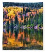 Colorado Autumn Fleece Blanket