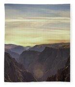 Colorado Canyon Morning Fleece Blanket